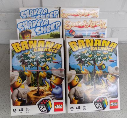 6 x Lego games -  Banana Balance (2), Sun block (2), Shave a Sheep (2) - complete with instructions