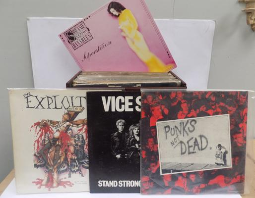 Box of LPs, all Punk, incl. Subhuman, Angelic Upstarts, Vice Squad, Souxsie & The Banshees