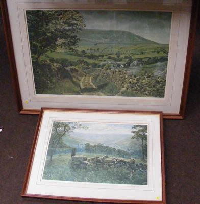 Two K. Melling signed prints of Country Dales