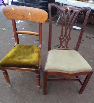 2x Dining chairs-1 for restoration