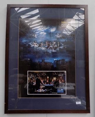 Framed signed William Hill poker Grand Prix II - signed by poker players