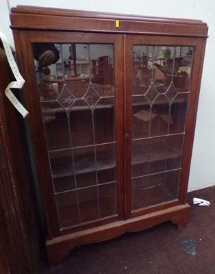 Glass fronted, shelved display cabinet for restoration