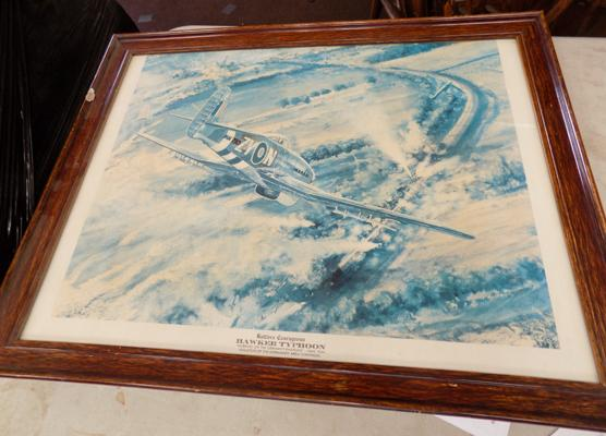 Framed Hawker Typhoon print (Battlers Courageous)