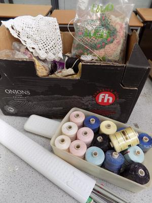 Selection of sewing items - needles, etc...