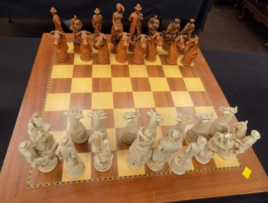 Wild West collectable chess set - chip on one piece