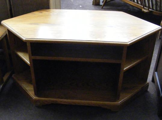Solid oak television cabinet