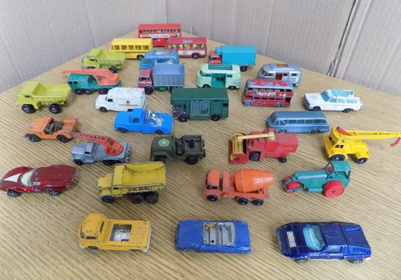 Collection of approx 30 vintage 1950/60's Lesney diecast cars