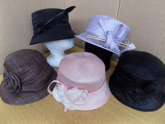 5x Formal hats