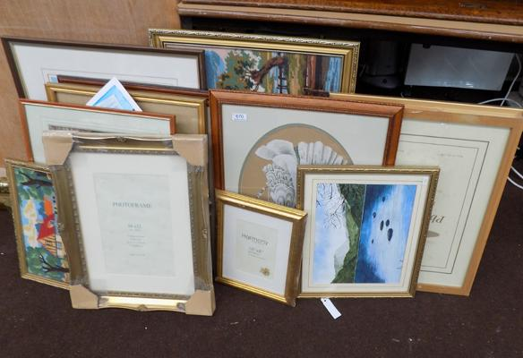 Selection of pictures/paintings, tapestry & frames