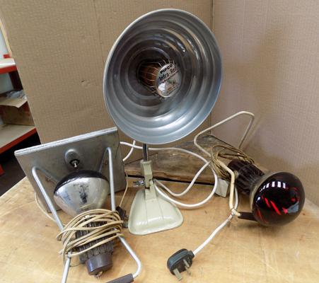Vintage infra-red lamp + two others