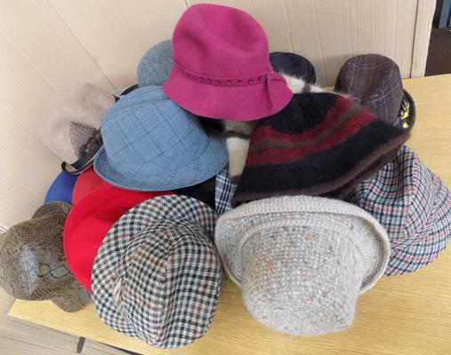 Collection of vintage hats
