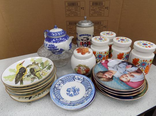 Selection of pottery, incl. collector's plates & Lord Nelson pottery