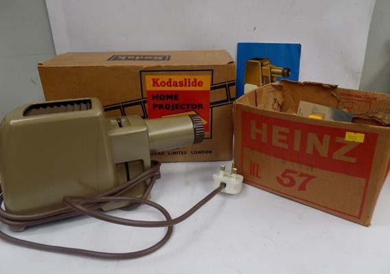Vintage Kodak home projector in box + a selection of photography accessories