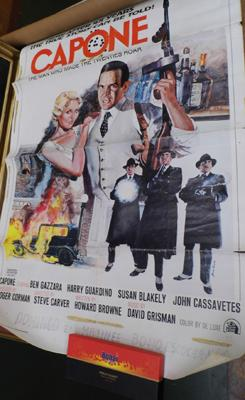 Original Capone movie posters in used condition