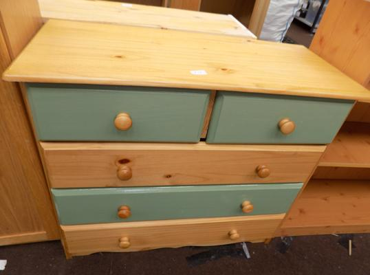 Pine 2 over 3 chest of  drawers