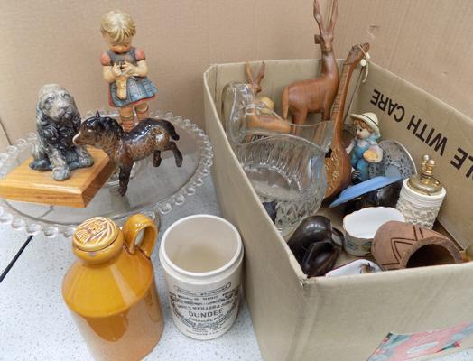 Selection of collectables, incl. treen, Goebel, Wedgwood
