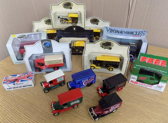Collection of box collectors diecast & loose vans