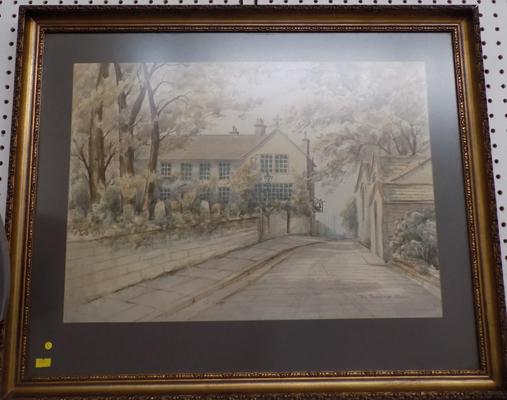 Painting of 'The Parsonage', Haworth by W. Parker