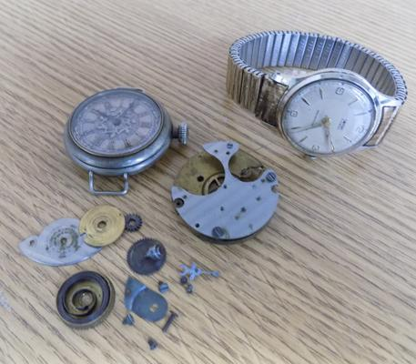 Wrist watch + one other - spares & repairs
