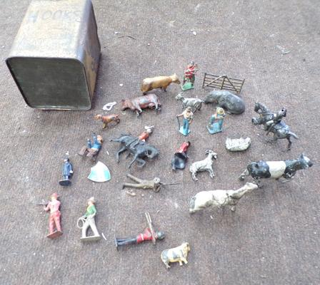 24 toy figures and animals - well used