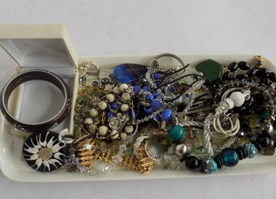 Selection of costume jewellery inc silver