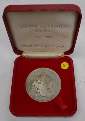 Greater Manchester Service Award, sterling silver, 35.7g