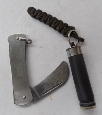 British military issue folding knife and compass