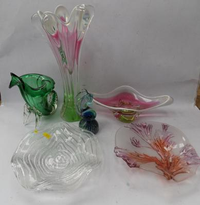 Selection of blown glass (Murano)