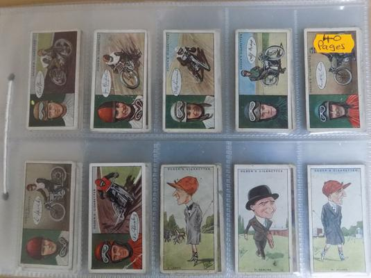 Pages of cigarette cards