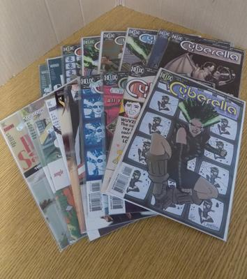 20 late 20th century, unopened collector's adult comics - Wild Cats, House of Secrets - in plastic covers