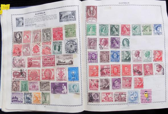 Album of early World stamps