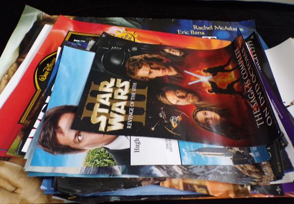 Selection of DVD/Film posters, incl. Lion King & Star Wars, Revenge of the Sith