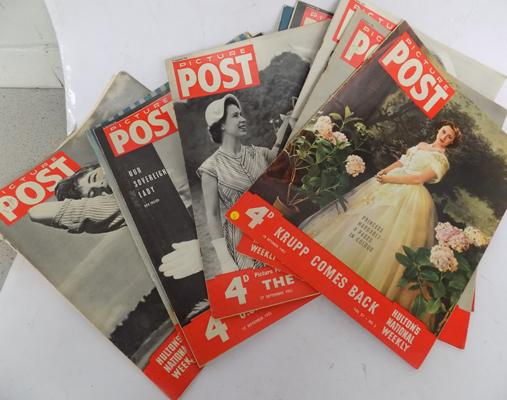 10x Picture postcard magazines 1952