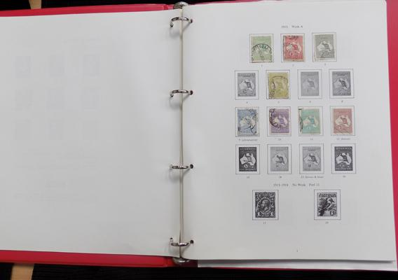 Printed Stanley Gibbons album of Australian stamps