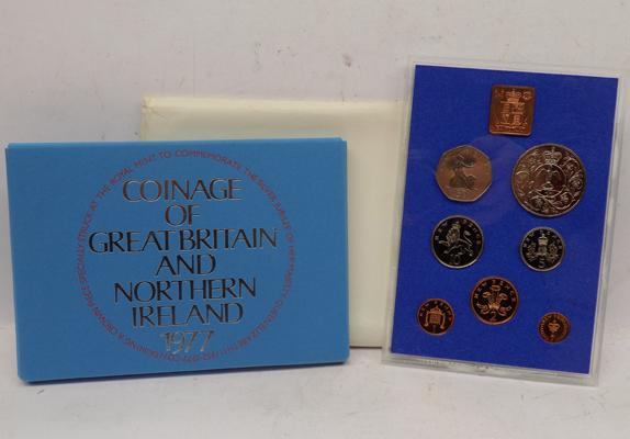 Royal Mint 1977 Proof coin set