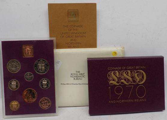 Royal Mint 1970 Proof coin set in original packaging + certificate