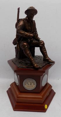 'The Brave British Tommy', WW1 Commemorative figure by Danbury Mint