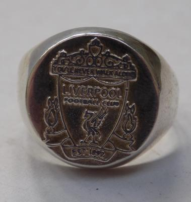 Silver Liverpool signet ring-tested, no marks