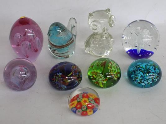Assortment of paperweights