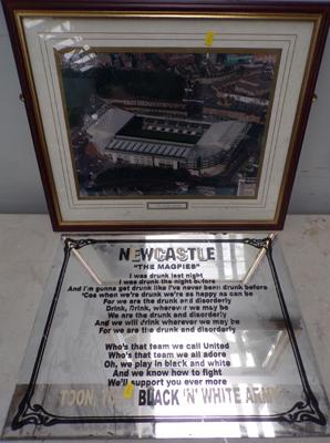 Newcastle United mirror + St James Park aerial photo