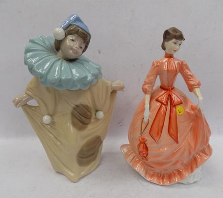 2 figurines - 1 NAO, 1 Royal Worcester - approx. 8""