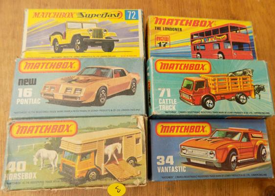 6 x Superfast Lesney cars - boxed