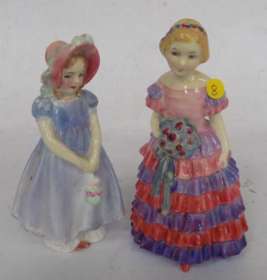 Royal Doulton figures - HN1433 'The Little Bridesmaid', HN1768 'Ivy' (no damage found)