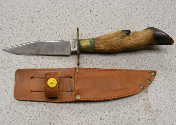 Deer hoof knife-WH Fagan & son, in leather case