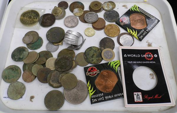 Selection of old coins etc...