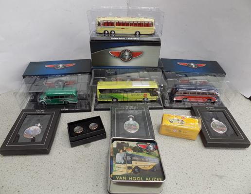 selection of diecast in original boxes, incl. Dinky, pocket watches, cufflinks, coasters