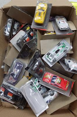 Collection of packaged diecast cars