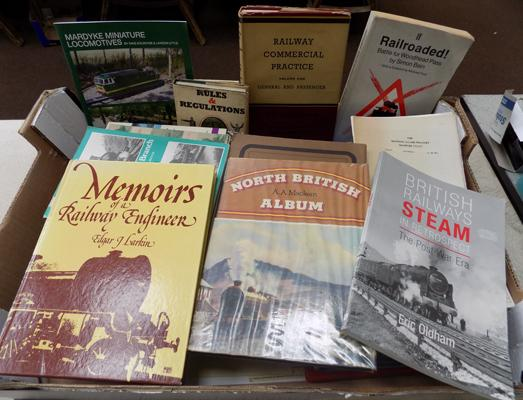 Large collection of railway books