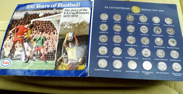 1872 - 1972 FA Cup Centenary coins - complete