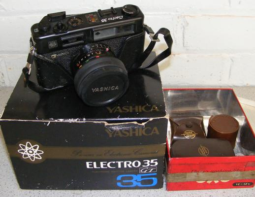 Yashica camera in box with accessories